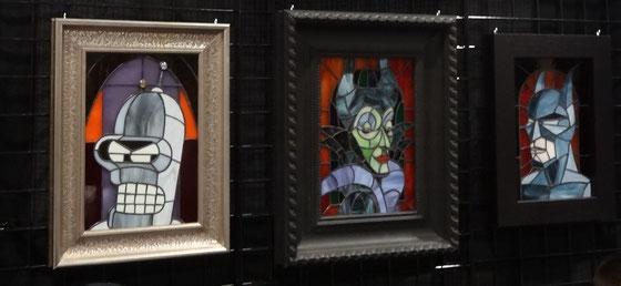 Kunst auf der Comicon Toronto: Tolle Collagen aus Glas.