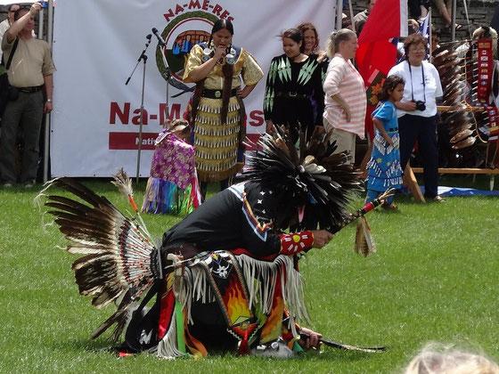 Pow wow in Toronto: Die First Nation der Mississaugas präsentierte sich am Wochenende im historischen  Fort York.