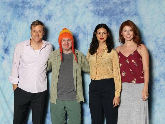 FanExpo 2016 in Toronto: Foto mit Alan Tudyk, Morena Baccarin und Jewel Staite aus der Fernsehserie Firefly.