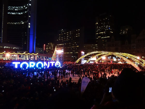 Cavalcade of Lights in Toronto: Die Adventszeit ist eingeläutet.