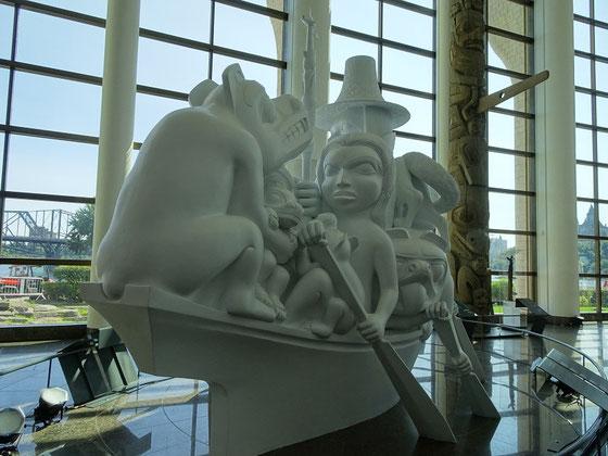 Urlaub in Ottawa: Plastik in der Grand Hall der Canadian Museum of History in Gatineau.
