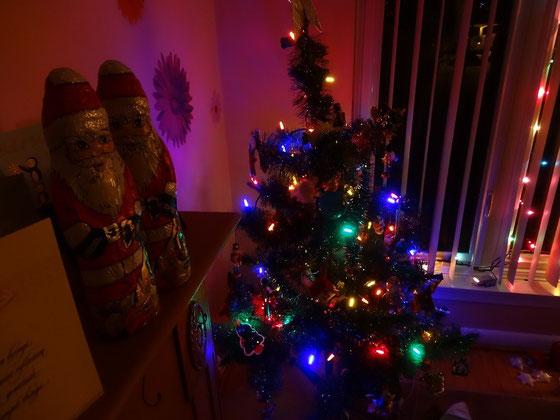 Blick auf den Weihnachtsbaum.