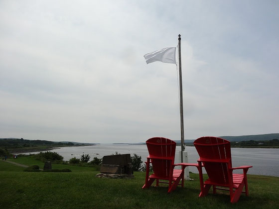 Urlaub in Nova Scotia: Uferblick in Fort Anne in Annapolis Royal.