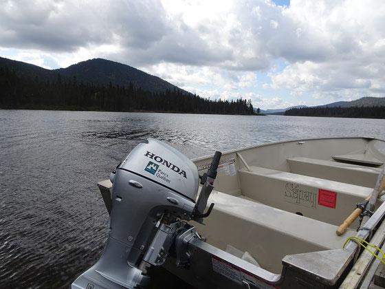 Urlaub in Quebec: Boot am Lac Cascapédia im Parc national de la Gaspésie.