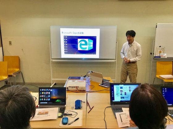 ☆シニア情報生活アドバイザー養成講座の試験はまずプレゼン。トップバッターは増田直樹さん。
