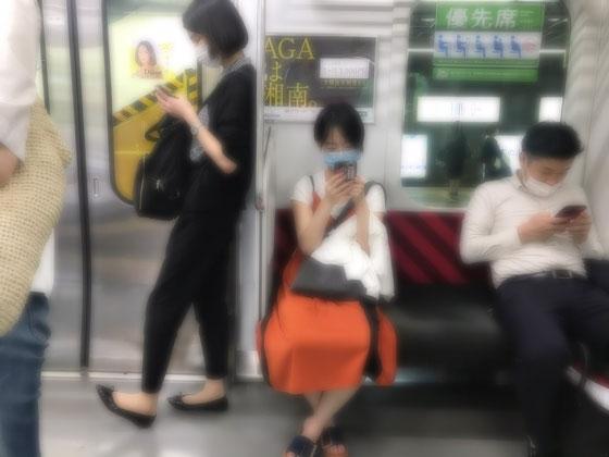 ☆JR中央線お茶の水駅の手前 12:52。空いててよかった。