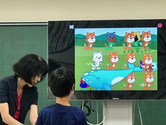 ☆案内役は午前午後ともに中島雅子さん。午後の部3年生の作品発表。いつもながら子どもの発想力にはびっくり。