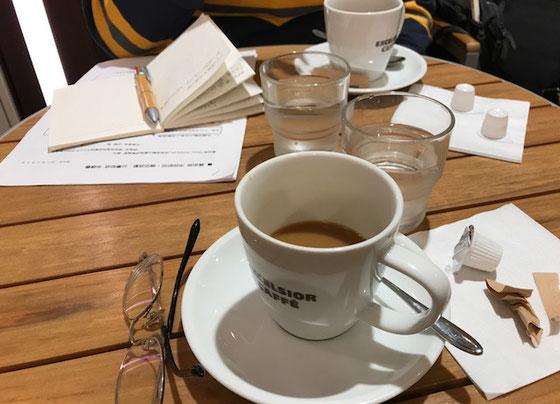 ☆ごめんなさい。コーヒー1杯で10:00から2時間半。おかげさまでいい打合せができました。