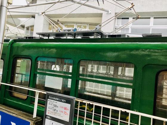 ☆会場の宮坂区民センターは東急世田谷線宮の坂駅の真ん前。センターの前にはかって世田谷線を走り、その後江の島電鉄で使用された車両が展示。車内にも入れます。