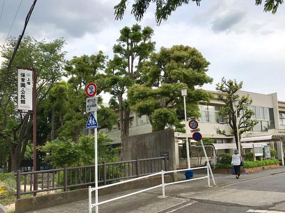 ☆東大和市駅から歩くこと15分。やっと上宿公民館の入り口に到着。