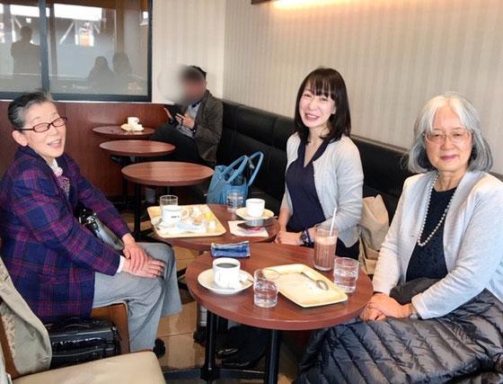☆今回も森下絵美さんとんぼ返りで徳島へ。12:00から小一時間ほど江戸川橋駅そばのドトールでお茶。