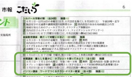 ☆5月5日付の小平市報です。