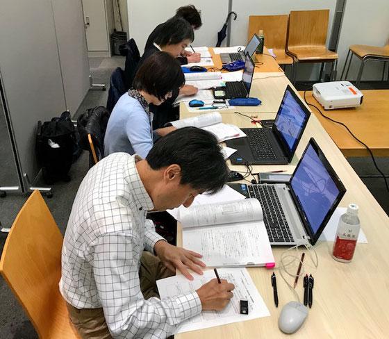 ☆最後の難関の筆記試験。テキスト持ち込み可。パソコンで検索可。20問を60分ですから@3分/1問、時間との勝負。狭いスペースに鉛筆で記入。