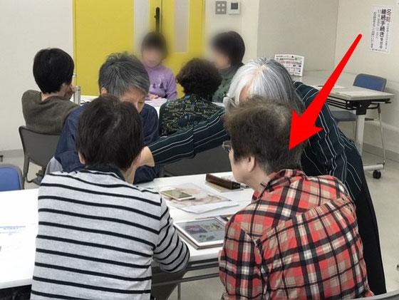 ☆午前の部 アイフォンステップアップ講座。S様(赤い矢印)10月いっぱい入院。退院されて復帰、おめでとうございます!