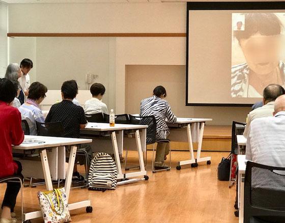 ☆恒例のFaceTimeは斎藤社長様と受講者様。会場が広すぎて交信の声が皆様には聞こえません。大きな会場ではFaceTimeは無理でした、反省です。