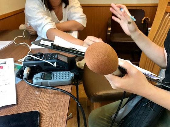 ☆14:00開催に先立ってFM世田谷さんの取材があり。約5分のインタービュー。緊張しました。