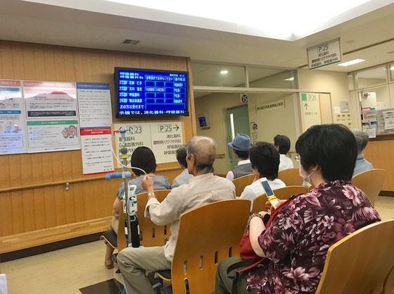 ☆武蔵野日赤5号棟2階受付前で待機中。