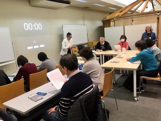 ☆第4期スマホ・タブレットマスター講師養成講座2日目試験。10:00定刻。試験がはじまりました。