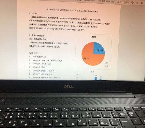 ☆新しいパソコンを購入してよかった。気持ちがいいほどサクサク動きます。報告書書きすっかり忘れていたWord、Excelの復習のいい機会。