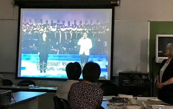 ☆佐藤弥子さんからのお別れのはなむけの一曲は「サライ」。谷村新司と加山雄三のデュツト。