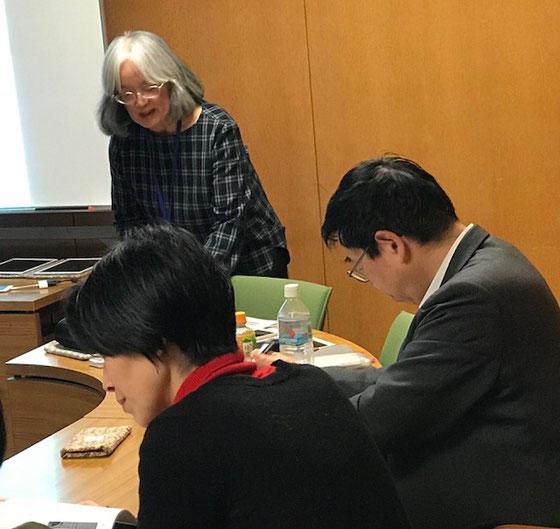 ☆見学に公益財団法人 ダイヤ高齢者研究財団 研究部主任研究員工学博士 澤岡詩野様(左側女性)がお越しでした。右側は協会の川村事務局長様。