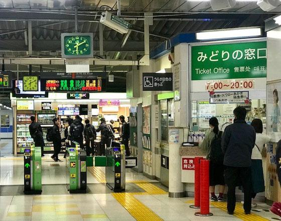 ☆JR高崎線本庄駅の改札。東塾長さんに20分の距離を車で送迎していただきました。有難うございました。