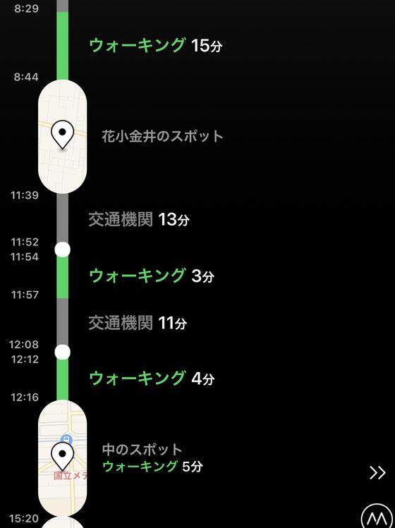 ☆iPhoneのアプリ「Moves」便利です。一日の行動を自動的に記録してくれます。