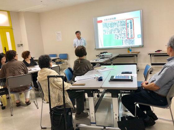 ☆午後の部 iPadステップアップ講座。このクラスは夏期講座で終了します。いよいよNHK学園くにたちオープンスクールの講座からiPadが消えます。満5年の歴史を閉じます。