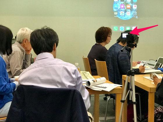 ☆パソコムプラザ新浦安の増田さんご夫妻(手前左側)。ビデオ撮りをお願いいたしました。