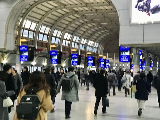 ☆品川駅の南北通路のコンコース。