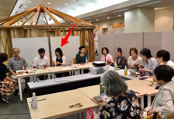 ☆特別ゲストのあとお一人はお茶大を卒業して社会人になった榊さゆりさん(赤い矢印)。