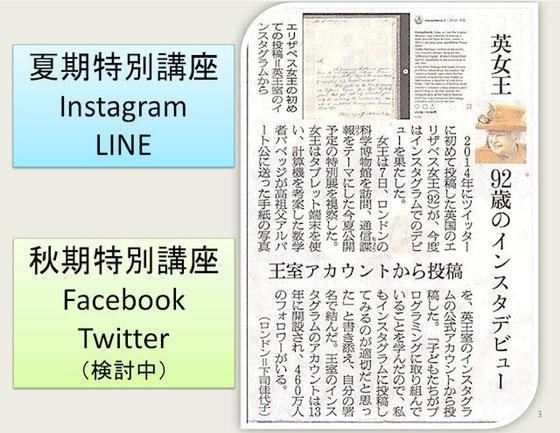 ☆「英女王 92歳のインスタデビュー」の話題も盛り込んで。(3月8日朝日新聞朝刊より)