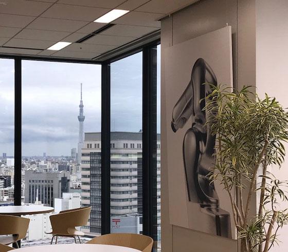 ☆会場は地下鉄日本橋B6出口の上にある 東京日本橋タワー の15階。スカイツリーが見えます。