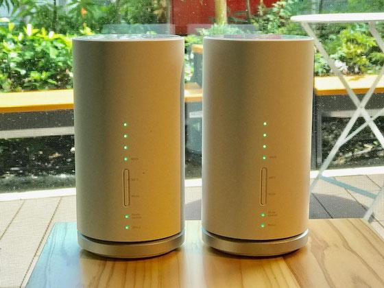 ☆写真はau 4G LTEも使える据置型ホームルーター Speed Wi-Fi home L01。