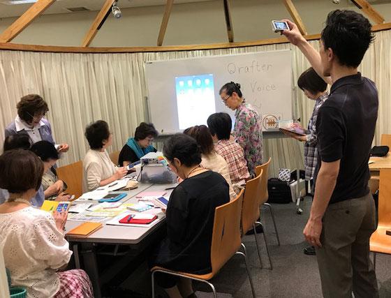 ☆右側の男性が記者の方。案内役は生田美子さん。サブは大橋朋子さん&金平紀代子さん。