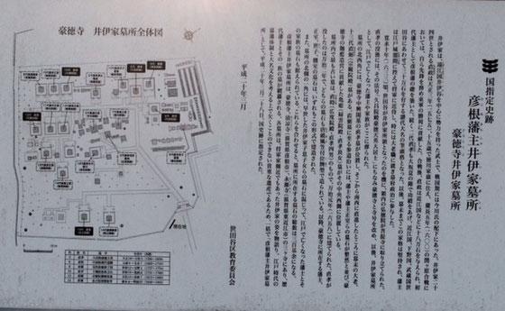 ☆井伊家の墓所の案内図。