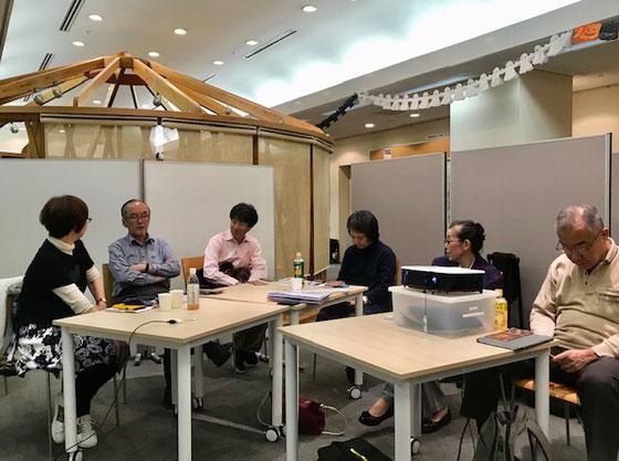 ☆終了直前に馳せ参じたのは新浦安からの増田直樹さん(左から3番目の男性)。