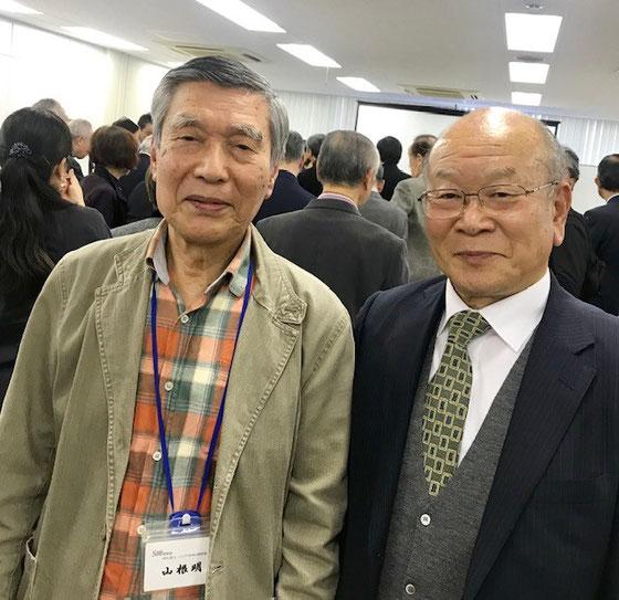 ☆会場でNPO法人シニアネット光の福森宏昌代表に4年(?)ぶりにお目にかかりツーショット。