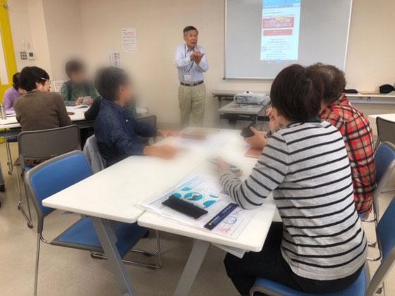 ☆午前の部アイフォンステップアップ講座。7名様。山根の1分間スピーチは詐欺メールのブログの画面を見ていただきました。「1800万円当選」の詐欺メール。