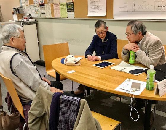 ☆左から杉本賢治さん、生田美子さん、澤田昌宏さん。氏名写真掲載ご許しを得ています。