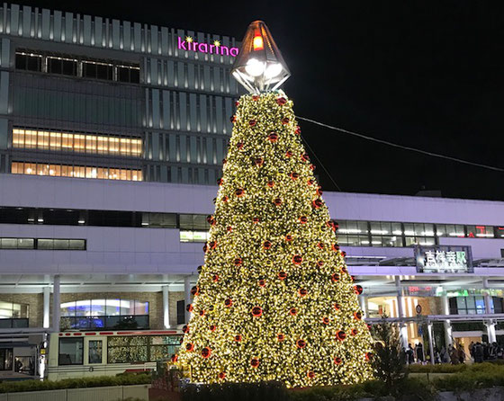 ☆JR中央線吉祥寺駅北口ロータリーのイルミネーション。