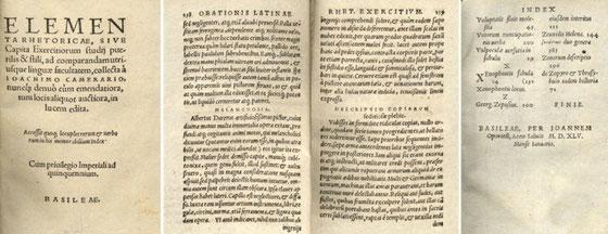 Joachim Camérarius, Elementa rhetoricae