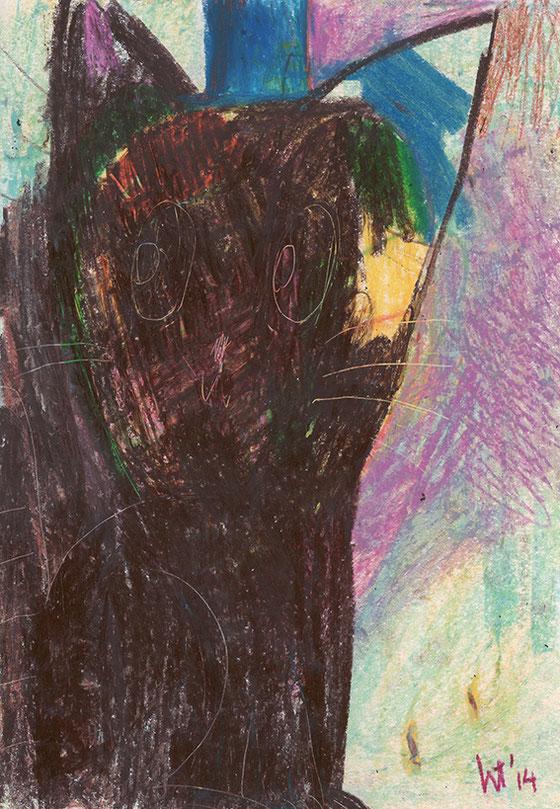 Hat Cat 2014 ©︎ Hanae Tanazawa