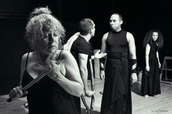 Mephisto Teatro - Yolanda Ruiz, Vladimir Cruz, Rey Montesinos y Dayana Contreras en Electra Garrigo (Ensayos) - Dir. Liuba Cid