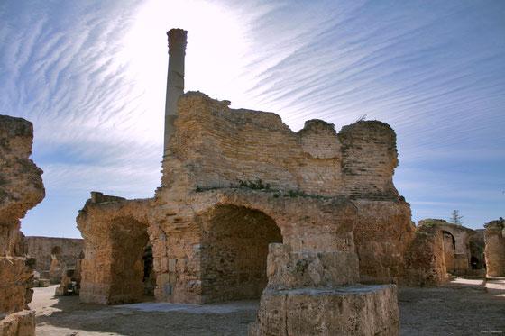 Ruinas de las termas de Antonino Pio. Túnez