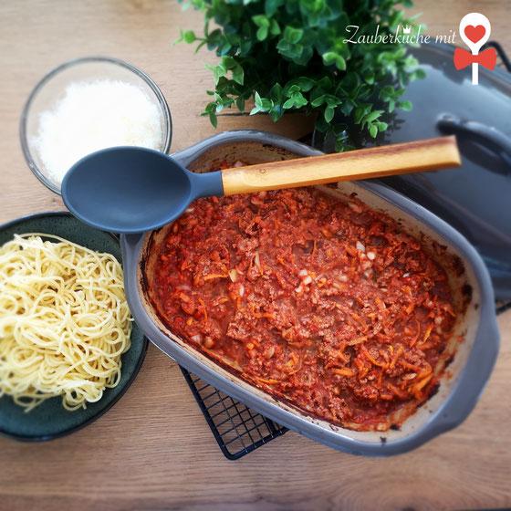 Bolognese, Pastasoße, Spaghetti, Ofen-Bolognese Rezept Ofenmeister Pampered Chef