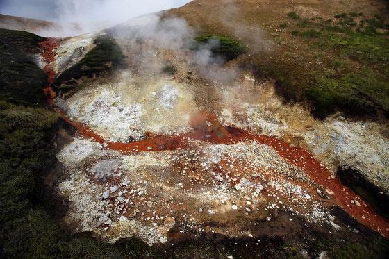 Fumeroles, soufre, fer (Islande)