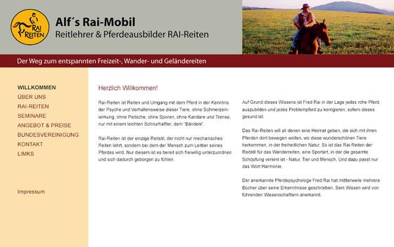 Webseite: Alf's Rai-Mobil