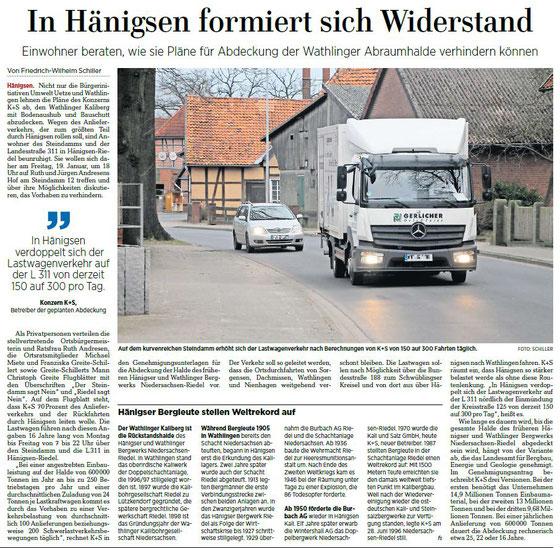 Quelle: Hannoversche Allgemeine Zeitung, 17.01.2018