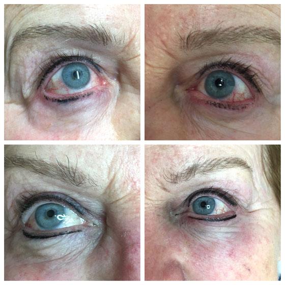Korrektur Eyeliner eines Mitbewerberstudios